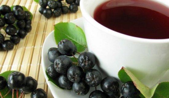 Чай с аронией черноплодной