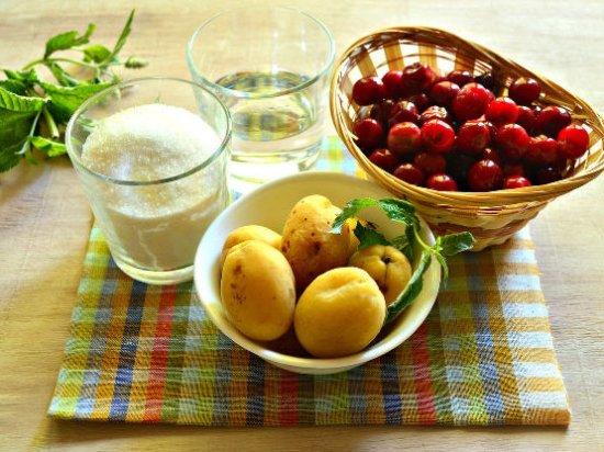 Абикосы, вишня, сахар