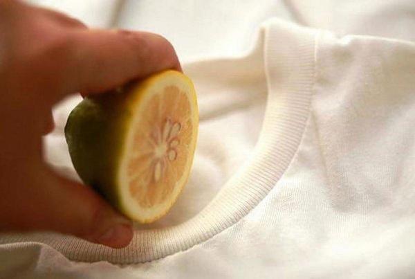 Выведение пятен лимоном