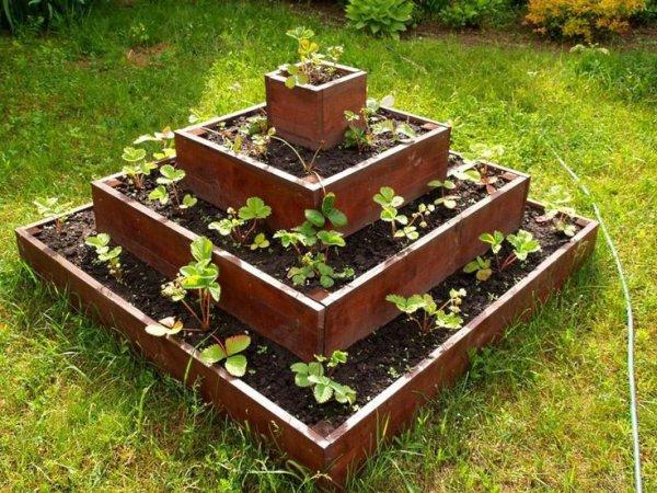 Грядка-пирамидка для клубники