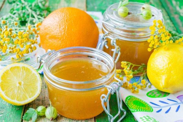 Джем из крыжовника, апельсинов и лимонов