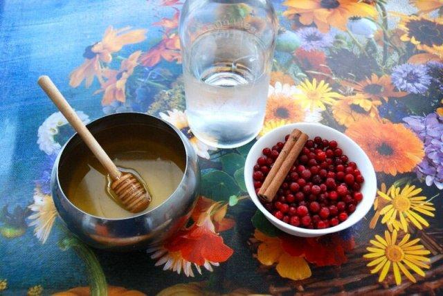 Настойка из брусники с медом и корицей