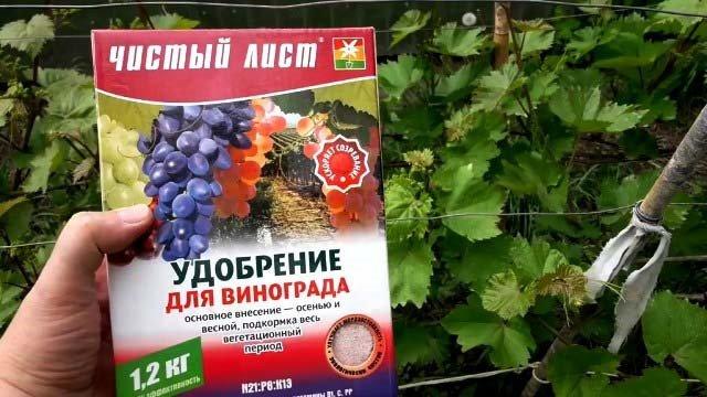 Подкормк винограда