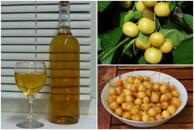 Вино из желтой черешни