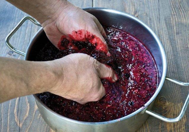 Приготовление мезги для вина