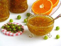 Варенье из крыжовника и апельсина
