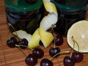 Варенье из черешни и лимона